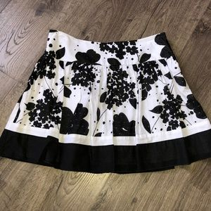 BCX Adorable Floral Swiss Dot Cotton Frilly Skirt